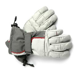 Grey Ski Gloves
