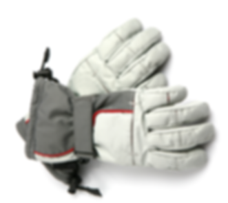 Grey Ski Gloves