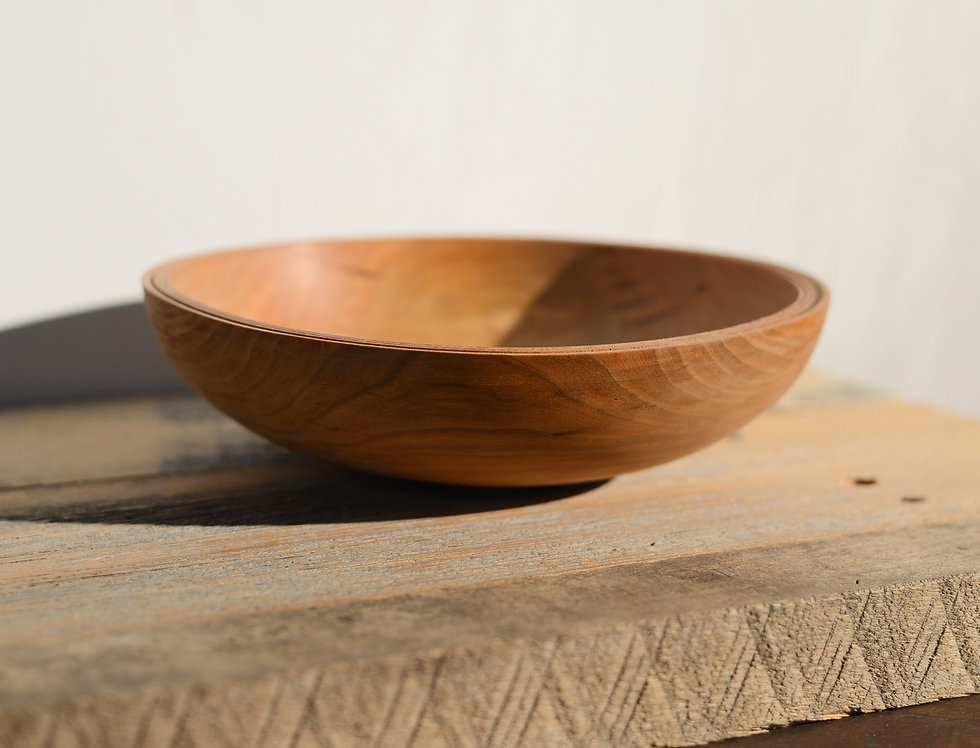LARGE CHERRY BOWL with a BEADED RIM