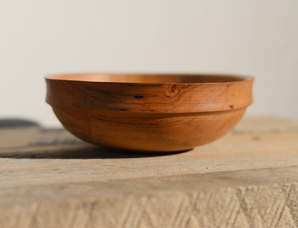 CHERRY BOWL with a DOUBLE RIM