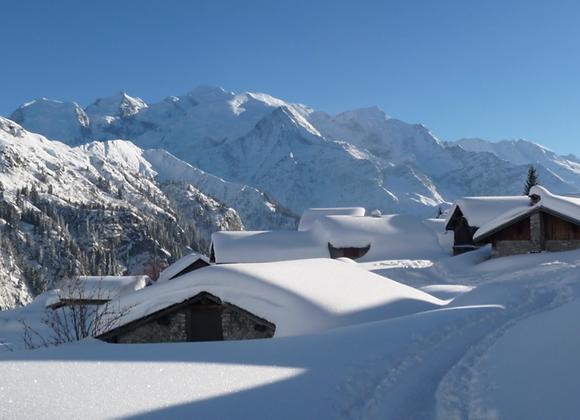 Raquettes et panoramas du Mont-Blanc