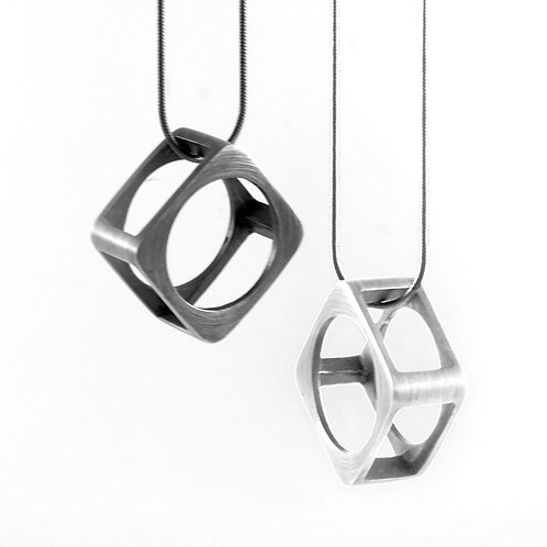 Square Frame Ring Pendant