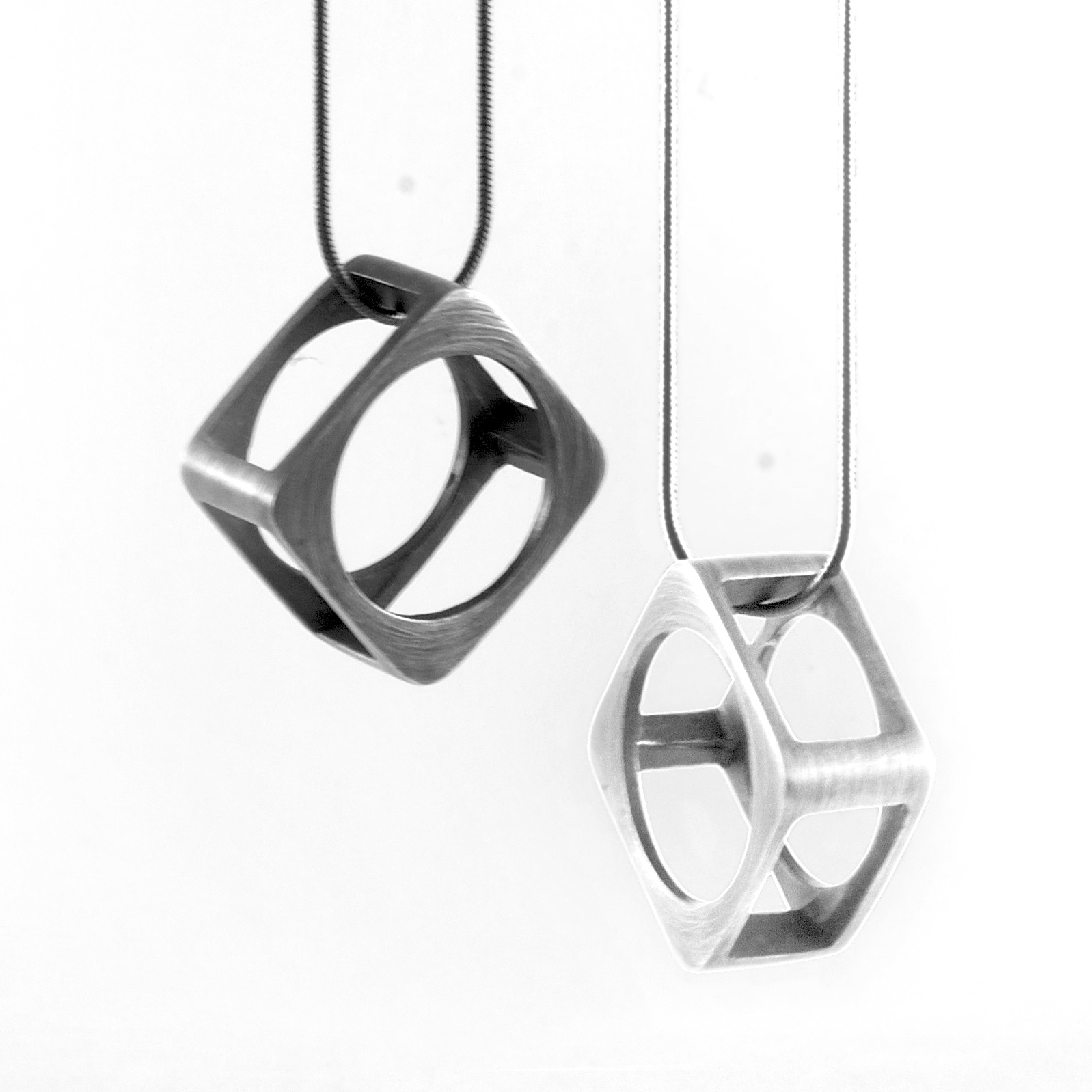 Square Frame Ring Pendant