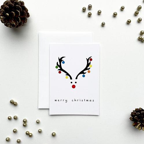Kerstkaartje 'Merry Christmas'