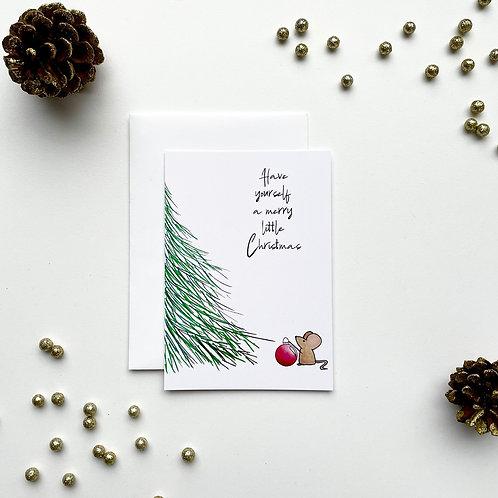 Kerstkaartje 'A merry little Christmas'