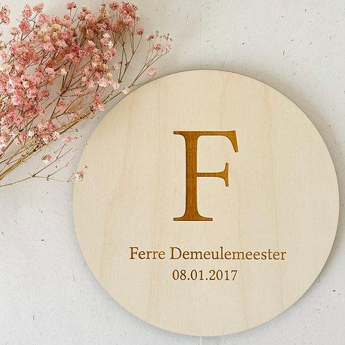 Geboortebord - 'Ferre'