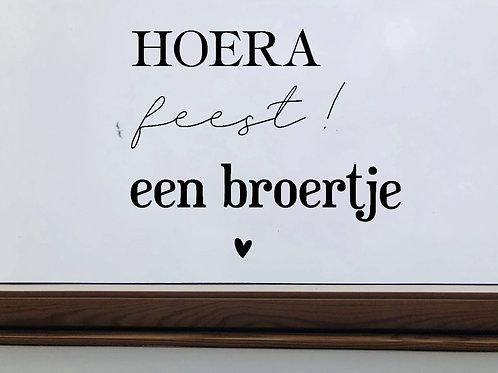Hoera - Feest - Een broertje/zusje