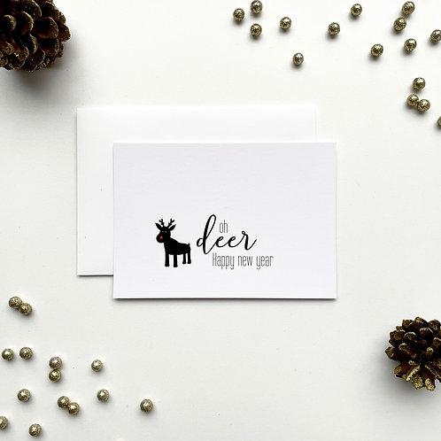 Kerstkaartje 'Oh deer'