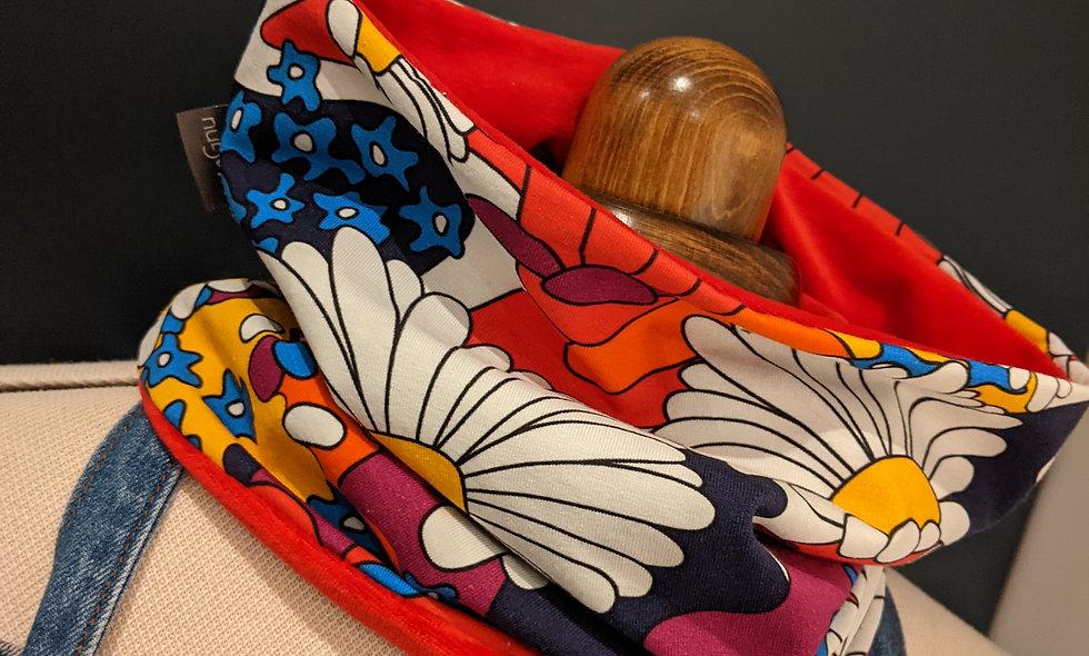 """Floral Fancy"" - Cotton velour lined (adult size)"