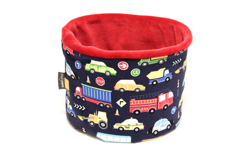Colourful Vehicles - Velour Lined (red)