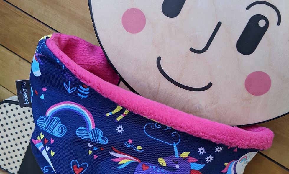Unicorn daydreams - Bright Pink Cotton Sherpa Fleece Lined