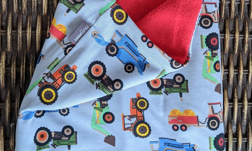Farm machines! - Cotton Sherpa Fleece Lined