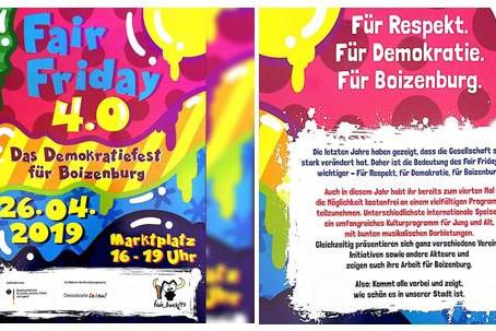 Fair Friday 4.0 - Demokratiefest in Boizenburg/Elbe