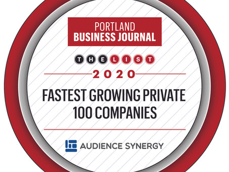 Audience Synergy recognized as Fastest Growing Company in 2020