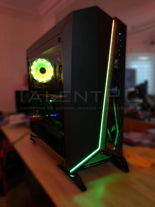 Gaming Alpha v2 i5-9400f | GTX 1650 4GB | 8GB RAM RGB | 600w 80+ | Cristal Templ