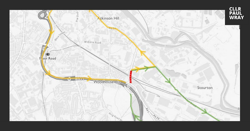 Map of Waddington's Railway Bridge maintenance diversion