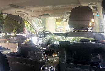 חוצץ למונית מפרספקס שקוף