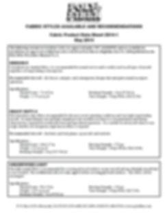 Poly Fiber Fabric Data Sheet
