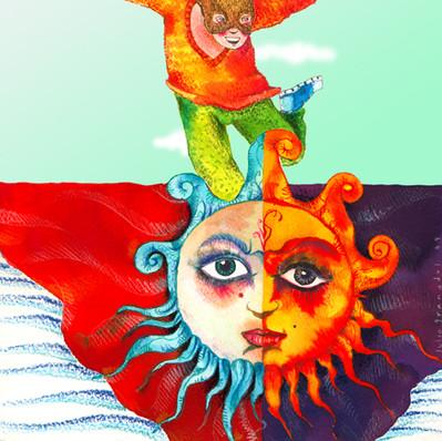 Niño y Luna-Sol