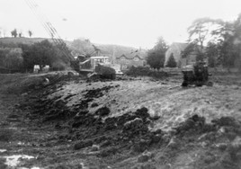 Reclaiming Manor fish ponds in Berry orchard 1976 1