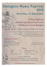 Ilmington Music Festival poster 2012