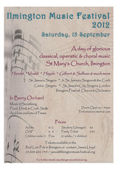 Ilmington Music Festival poster 2012
