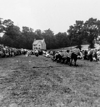 Ilmington flower show 1960(?). Wellesbourne tug of war team won