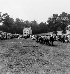 Ilmington flower show 1960(?). Wellesbourne tug of war team won