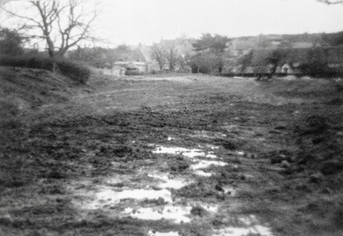 Reclaiming Manor fish ponds in Berry orchard 1976 3