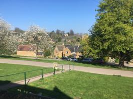 View from shop door