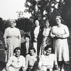 WI choir members - Mrs Handy, Miss Harris, Mrs Dowler, Mrs Freeman, Mrs Gaydon, Mrs Everett, Clara Cooke, Mrs Dumbleton