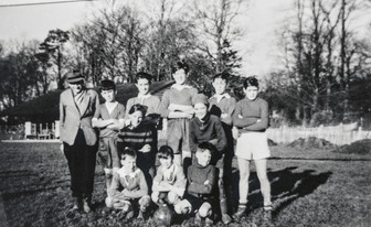 F Williams with Ilmington junior footballers