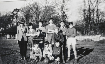 F Williams with Ilmington junior footballers