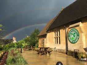 Shop & rainbow