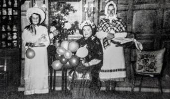WI pantomime - Mrs Dumbleton, Helga Harris, Mrs Boswell