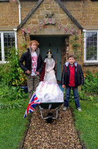 Jubilee lunch in a wheelbarrow!