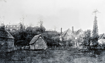 Berry orchard. Top left - The Grange (Formerly The Mount). Right - The Dower house