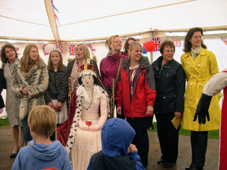 Scarecrow competition with ex May Queens 1