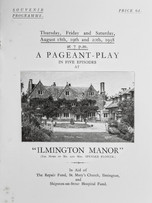 Manor house pageant programme 1938