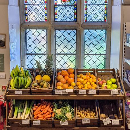 Shop vegetable display