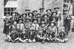 Scouts Remembrance day parade - 1950s