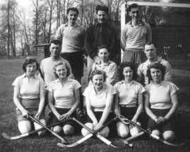 Ladies hockey team (with Terry Hall)