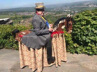 Ilmington Morris' new hobby horse 'Sam-son' with Rob Harris - April 30th 2021