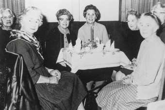 Wednesday club 1969 - Mrs Gaskell, Miss A Clarke, Miss Dark, R Buggins, Mrs Hanson, W Buggins, Miss Smith