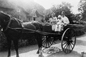 Joyce Beecham & nanny outside Bevingtons