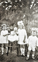 Jessie, Amy, Mary & George Terry 1923