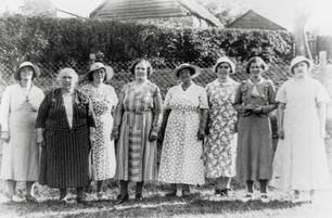 WI group - inc. Helga Harris, Mrs Freeman, Mrs Empson