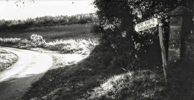 The gated road from the Foxcote entrance to Charingworth