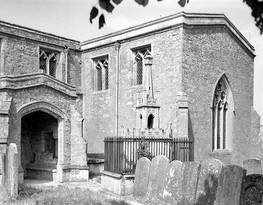 South porch of St Mary' s church, Ilmington. 1948