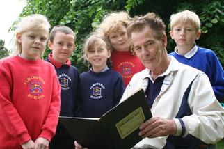 2005 - Ken Hall with school pupils